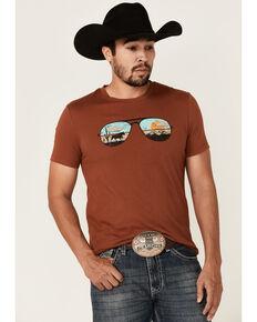 Dale Brisby Men's Rust Sunglasses Graphic Short Sleeve Tee  , Rust Copper, hi-res
