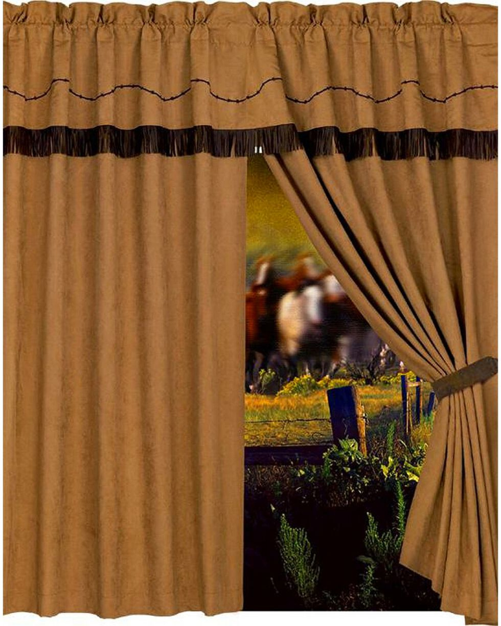 HiEnd Accents Barbwire Curtain with Attached Valance, Multi, hi-res