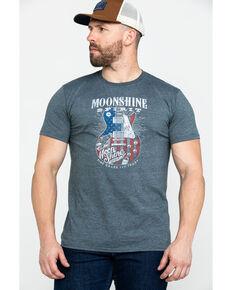 Moonshine Spirit Men's Big Guitar Graphic T-Shirt , Grey, hi-res