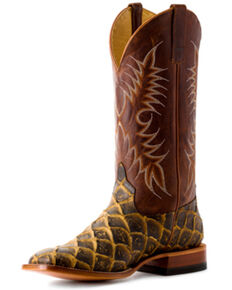 Horse Power Boys' Filet To Fish Western Boots - Square Toe, Brown, hi-res