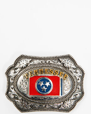 Cody James Men's Tennessee Beaded Scallop Buckle, Silver, hi-res