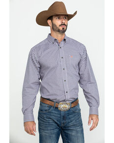 Ariat Men's Umber Stretch Multi Plaid Long Sleeve Western Shirt - Tall , Multi, hi-res