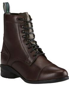 Ariat Women's Brown Heritage IV Lace Paddock Boots - Round Toe, Brown, hi-res
