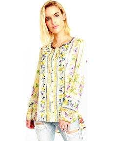 Aratta Women's Dreamland Beach Shirt , Light Yellow, hi-res