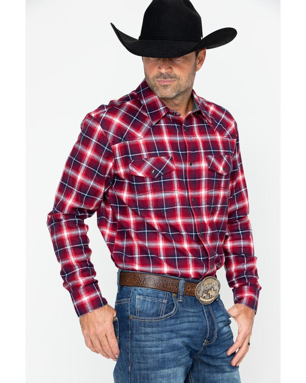 Cody James Men's Logger Family Plaid Long Sleeve Western Shirt , Red, hi-res