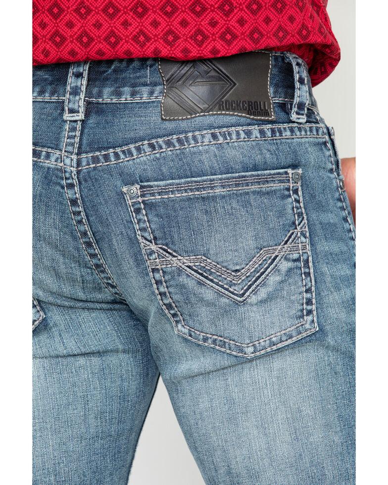 Rock & Roll Cowboy Men's Reflex Pistol Straight Jeans , Blue, hi-res