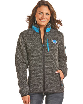 Powder River Outfitters Women's Black Melange Fleece Jacket , Black, hi-res