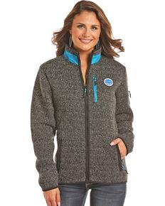 Powder River Outfitters Women's Black Melange Fleece Jacket , Black, hi-res