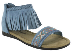 Minnetonka Girls' Coco Sandals, Turquoise, hi-res