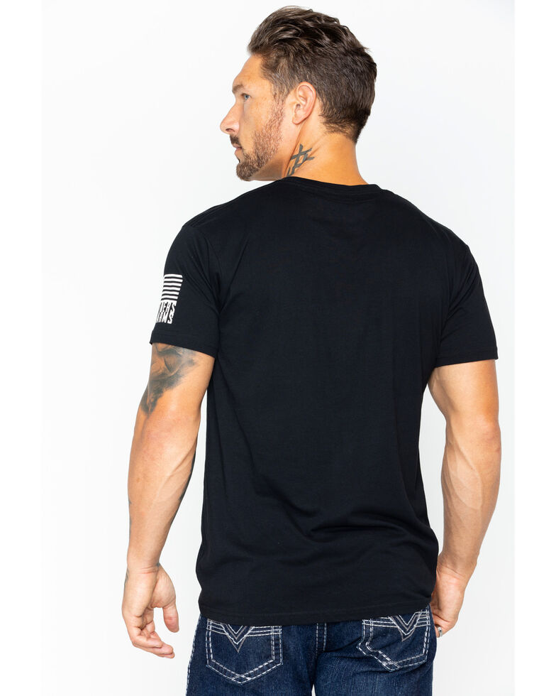 Brothers & Arms Men's Thin Blue Line Graphic T-Shirt, Black, hi-res
