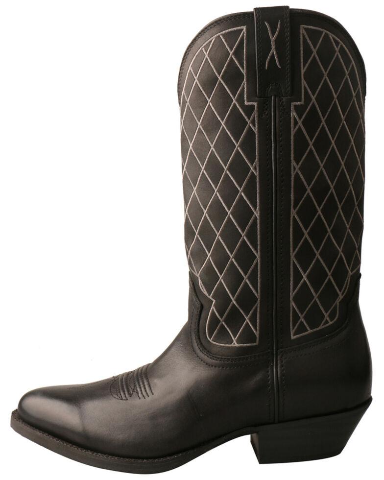Twisted X Men's Black Western Boots - Round Toe, Black, hi-res