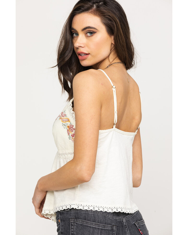 Shyanne Women's Ivory Embroidered Cami , Ivory, hi-res