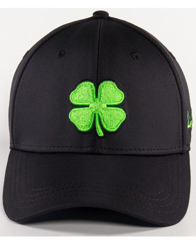 Black Clover Men's #51 Premium Lime Lucky Logo Flex-Fit Ball Cap , Black, hi-res