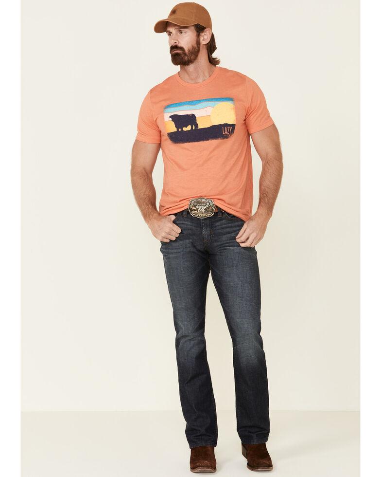 Lazy J Ranch Men's Orange Ranch Sunrise Graphic T-Shirt , Orange, hi-res