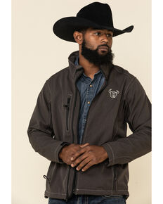 Cowboy Hardware Brown Men's Logo Poly Shell Jacket , Brown, hi-res