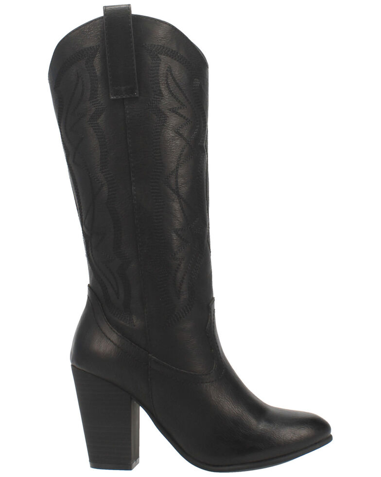 Code West Women's Kiki Western Boots - Round Toe, Black, hi-res