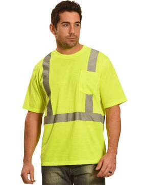 American Worker Men's Short Sleeve High Visibility T-Shirt, Yellow, hi-res