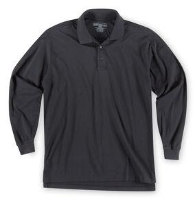 5.11 Tactical Jersey Long Sleeve Polo - 3XL, Black, hi-res