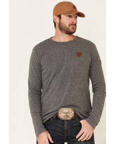 Wanakome Men's Orion Logo Patch Long Sleeve T-Shirt , Dark Grey, hi-res