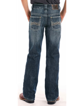 """Rock & Roll Cowboy Boys' BB Gun Abstract """"A"""" Regular Fit Boot Cut Jeans, Blue, hi-res"""
