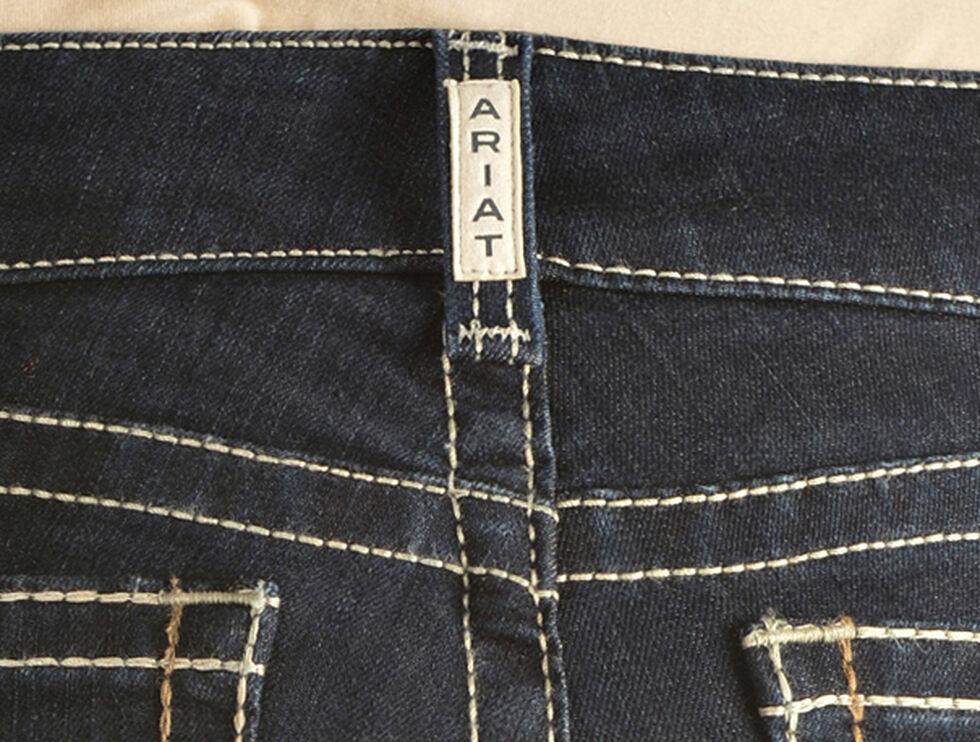 Ariat Women's R.E.A.L. Chainlink Boot Cut Jeans, Denim, hi-res