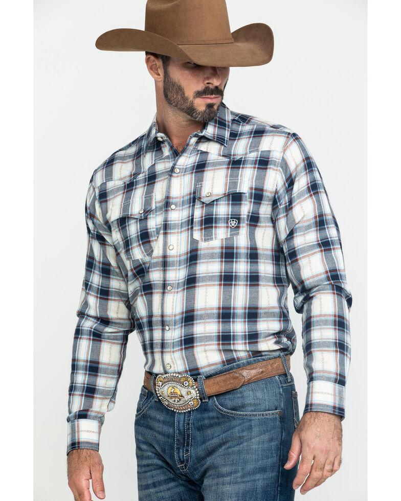 Ariat Men's Jacksonville Retro Plaid Long Sleeve Western Shirt , Multi, hi-res
