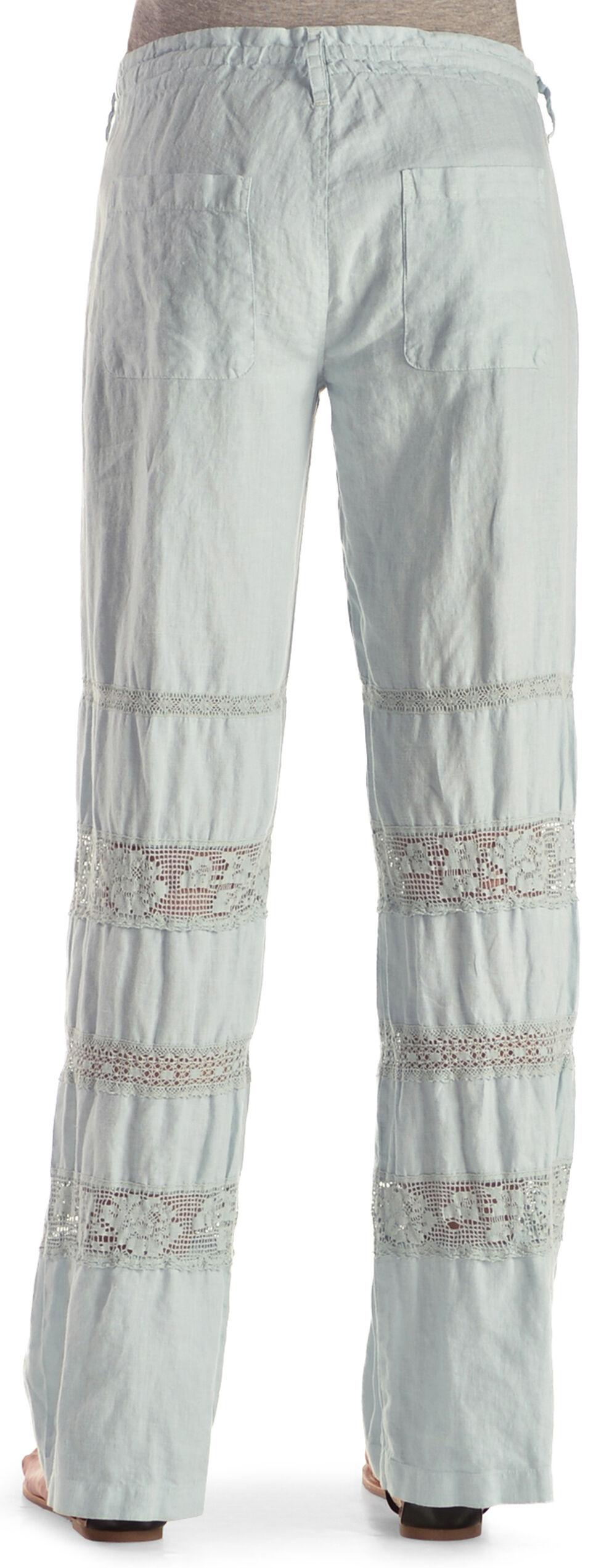 Johnny Was Women's Crochet Insert Linen Pants, Seafoam, hi-res