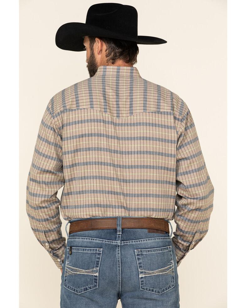 Resistol Men's Tan Alpine Check Plaid Long Sleeve Western Shirt , Tan, hi-res