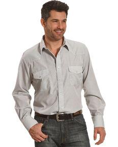 Roper Men's White Geo Print Western Shirt , White, hi-res
