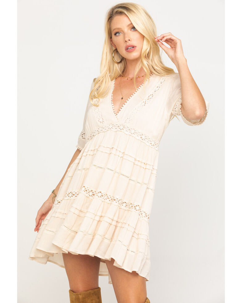By Together Women's Ivory Crochet Dress, , hi-res