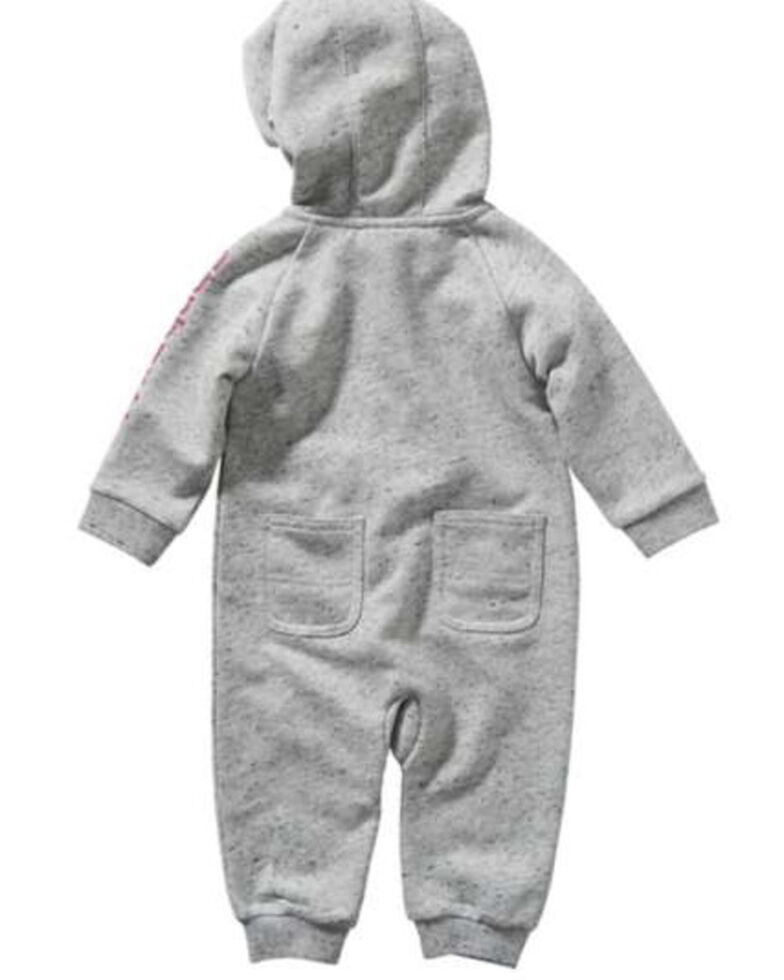 Carhartt Infant Girls' Grey French Terry Coveralls , Grey, hi-res