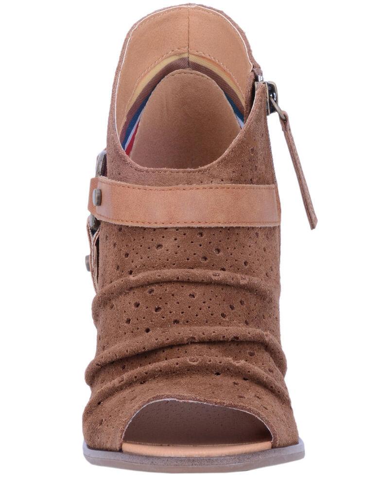 Dingo Women's Spurs Fashion Booties - Peep Toe, Wheat, hi-res