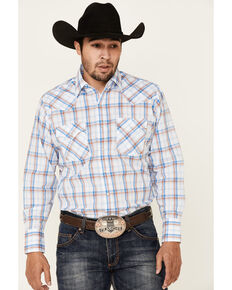Ely Walker Men's Assorted Large Plaid Long Sleeve Snap Western Shirt , Multi, hi-res