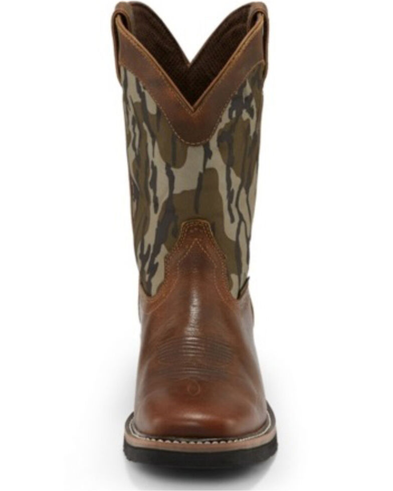 Justin Men's Trekker Bottom Lands Waterproof Western Work Boots - Soft Toe, Brown, hi-res