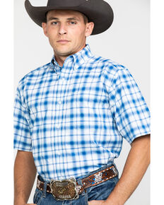 Ariat Men's Obarra Stretch Plaid Short Sleeve Western Shirt , Multi, hi-res