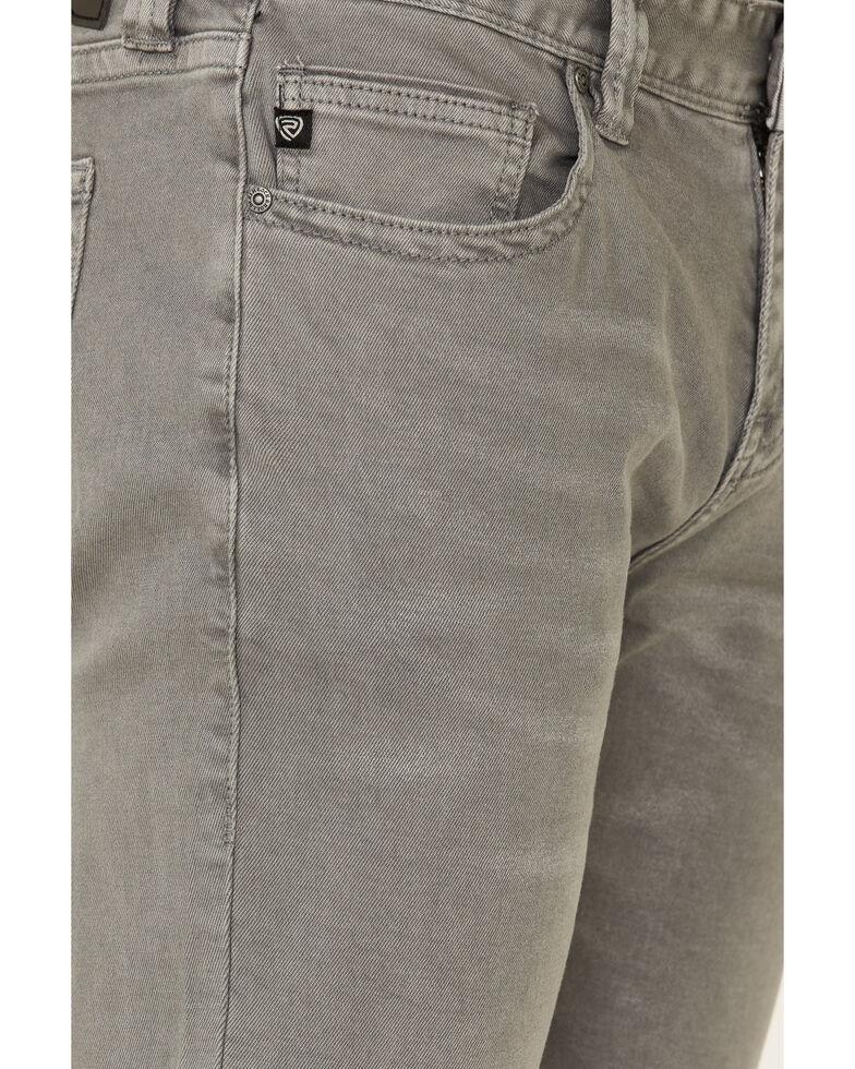 Rock & Roll Denim Men's Grey Pistol Stretch Regular Straight Jeans , Grey, hi-res