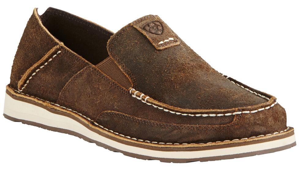Ariat Men's Rough Oak Cruiser Shoes - Moc Toe, Brown, hi-res