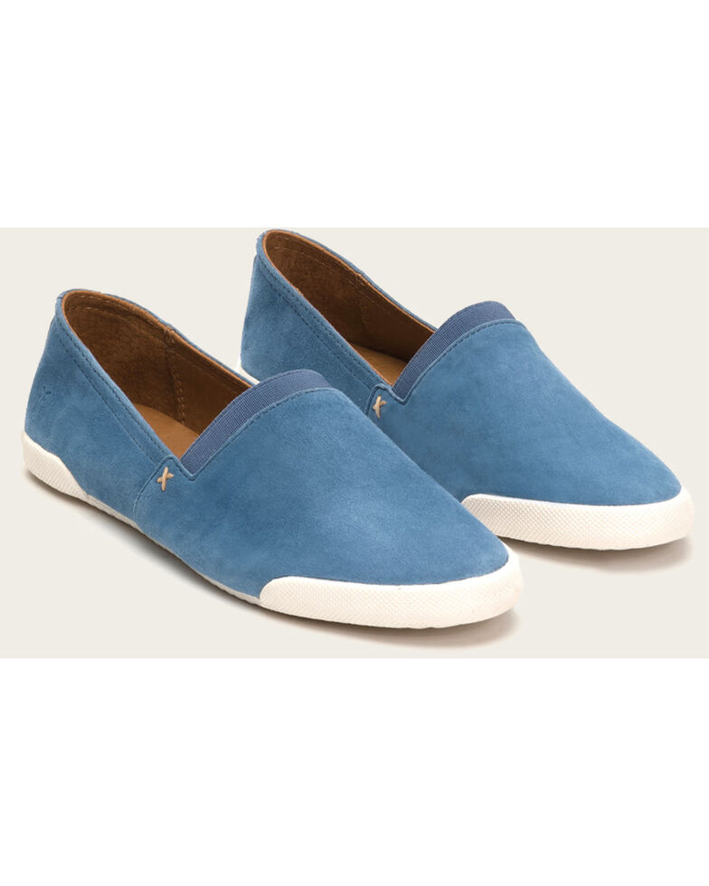Frye Women's Blue Melanie Slip On Shoes , , hi-res