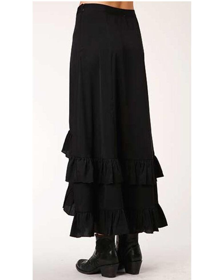 Studio West Women's Hi-Lo Prairie Skirt , Black, hi-res