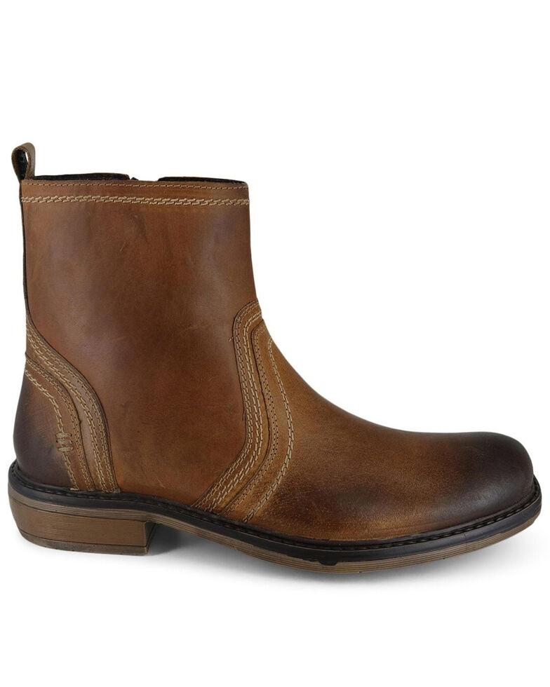 Evolutions Men's Tan Crestone Chelsea Boots - Round Toe, Tan, hi-res
