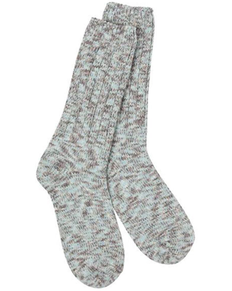 World's Softest Women's Weekend Ragg Crew Socks, Lt Brown, hi-res
