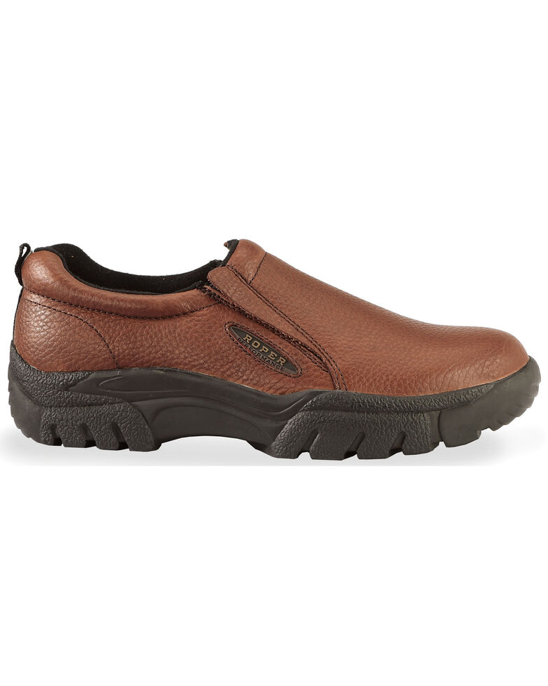 Roper Performance Slip-On Casual Shoes - Wide, Brown, hi-res