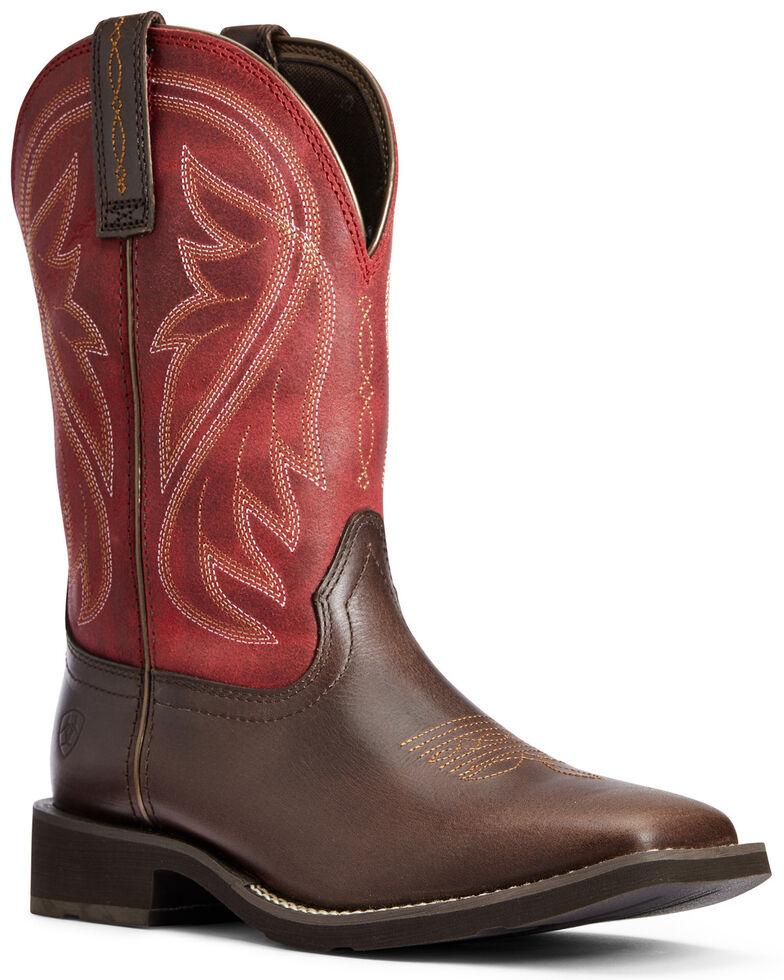 Ariat Women's Azalea Western Boots - Wide Square Toe, Brown, hi-res