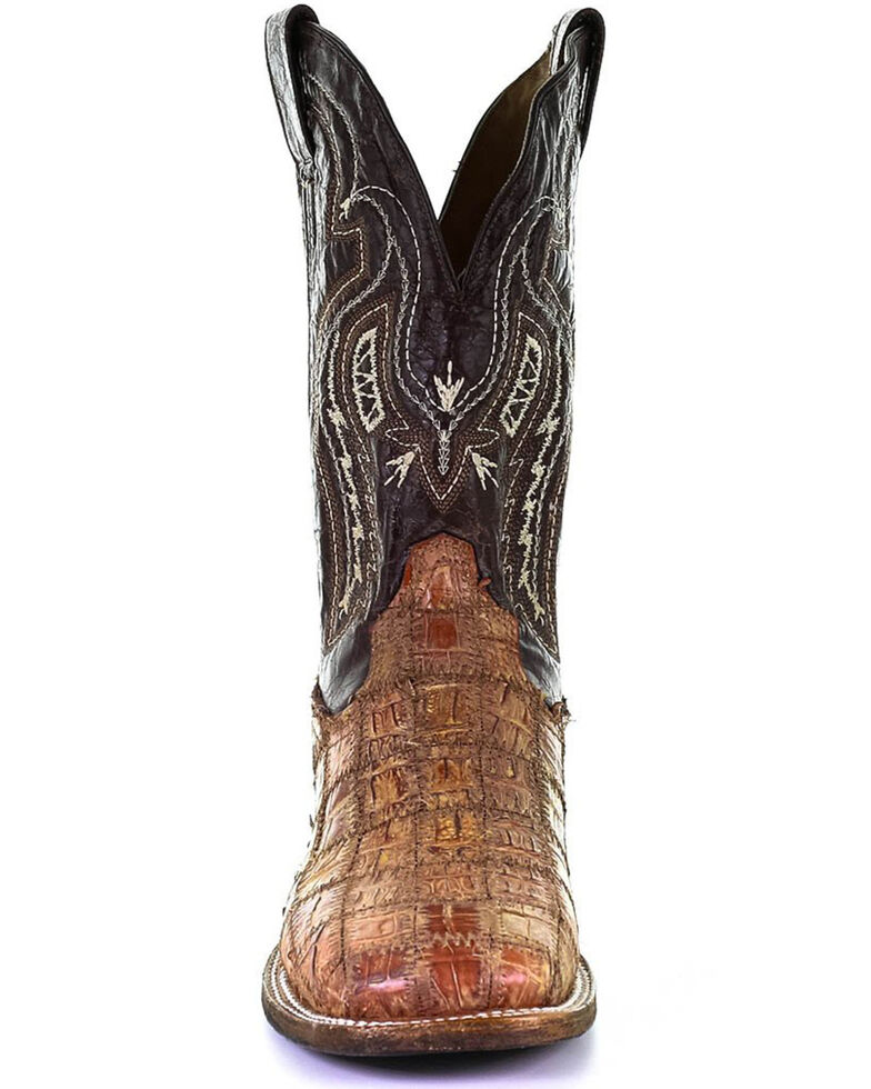 Corral Men's Fuscus Patch Work Western Boots - Wide Square Toe, Brown, hi-res