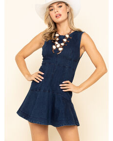 Free People Women's Blue Alex Mini Dress, Dark Blue, hi-res