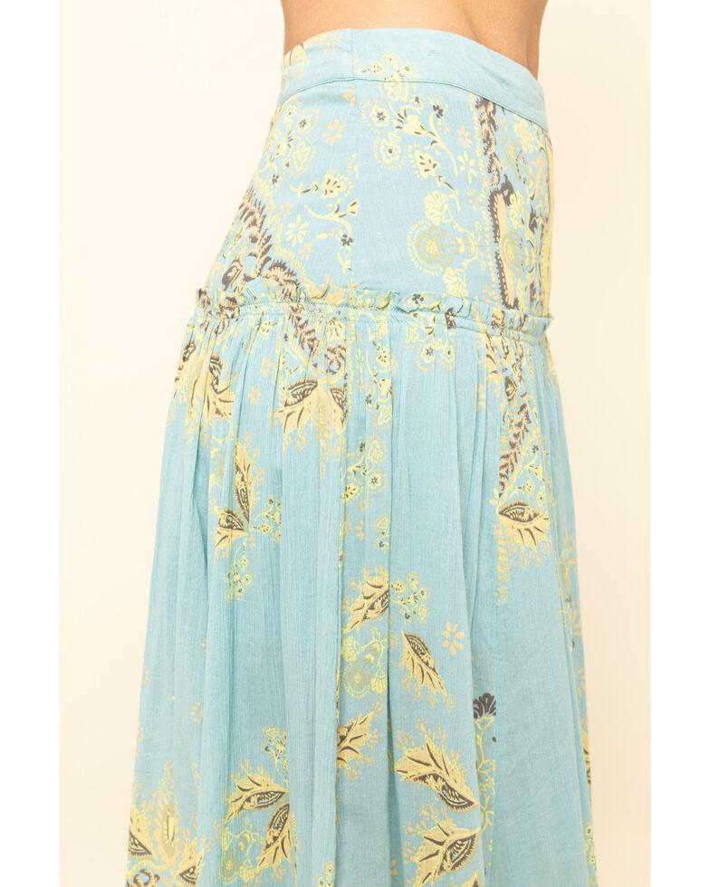 Free People Women's Farrah Drop Waist Skirt , Blue, hi-res
