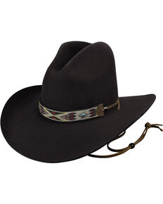 Bailey Men's Black Hickstead Cowboy Hat, Black, hi-res