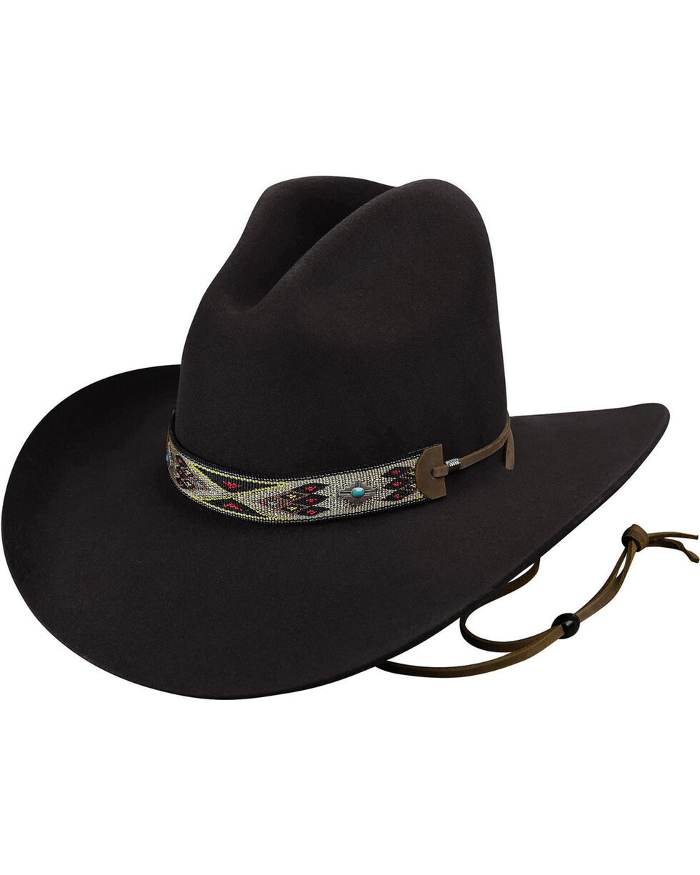 Bailey Men's Black Hickstead Cowboy Hat, Black, hi-res