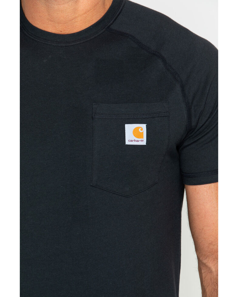 Carhartt Force Cotton Short Sleeve Work Shirt - Big & Tall, Black, hi-res