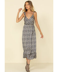Luna Chix Women's Snake Print Maxi Dress, Python, hi-res